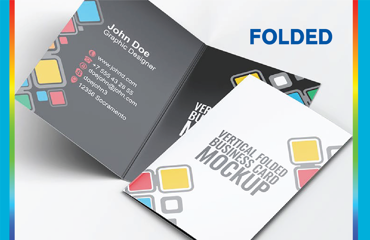 folded houses business cards colours
